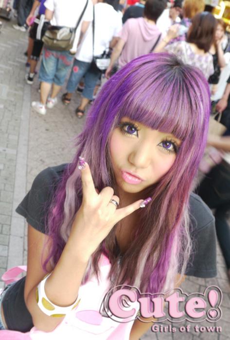 Gyaru In Purple Gyaru Hair